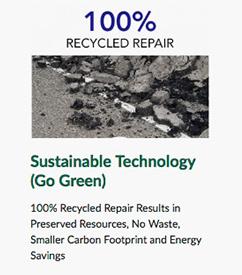 100 percent recycled asphalt