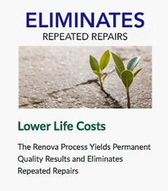 eliminates repeated asphalt repairs - lower lifetime costs